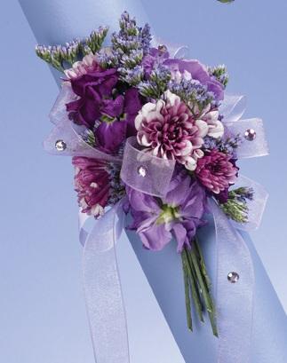 lavender blossoms garden corsage