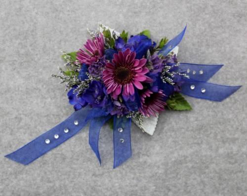 sapphire garden corsage