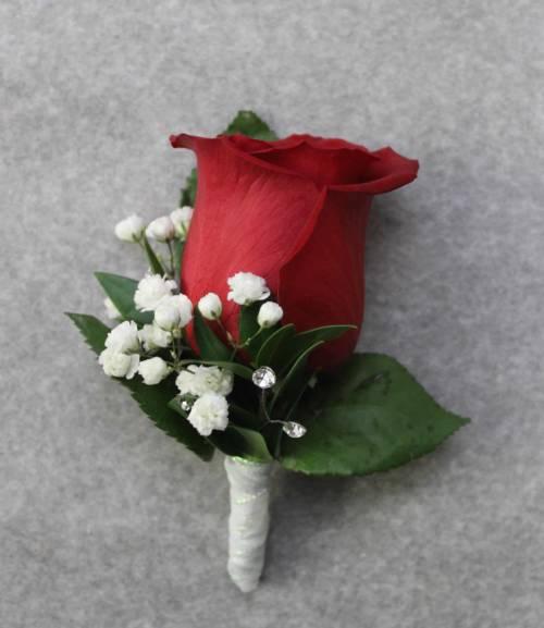 Bold Rose Boutonniere